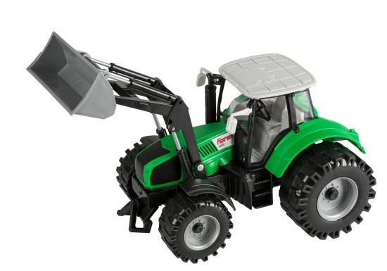 Traktor mit beweglichem Frontlader und Schwungradantrieb, 29 cm