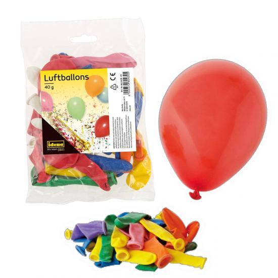Luftballons, 32  Stück, bunt, im Beutel