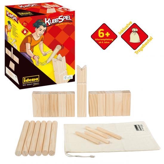Kubb Spiel aus Holz, FSC® 100 %
