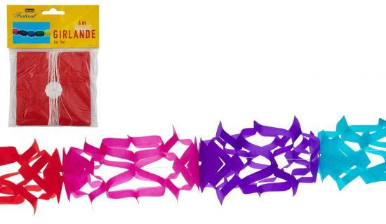 Girlande, 2 Stück, 6 m x 12 cm, mehrfarbig