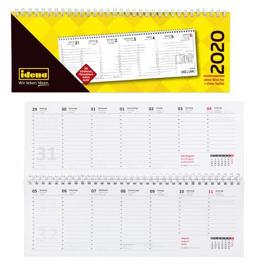 Tischkalender 2020, 28,7 x 10 cm, 1 Woche auf 1 Seite