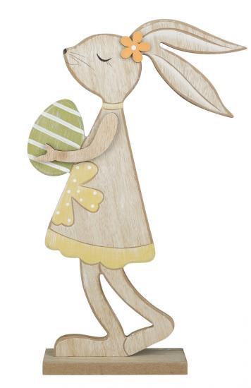 Osterhasen Mädchen, aus Holz, 34 x 17,5 cm