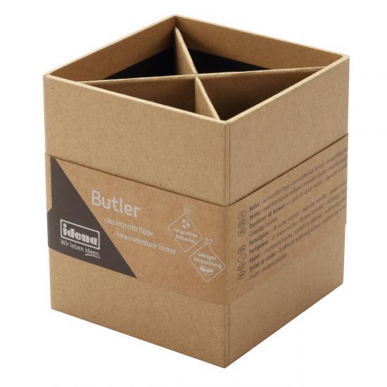 Butler aus recyceltem Kraftpapier