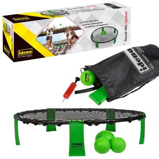 Round-Net-Spielset, Ø 90 x 20 cm, mit 3 Trainingsbällen, Handpumpe & Tragetasche