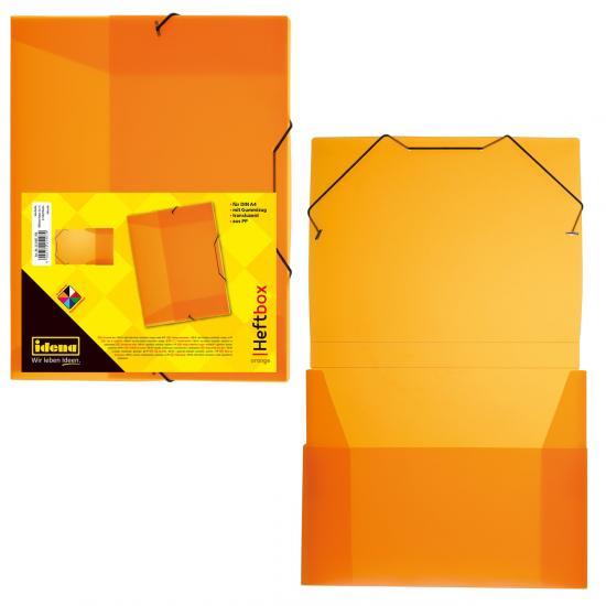 Heftbox, DIN A4, Gummizug, PP, transluzent