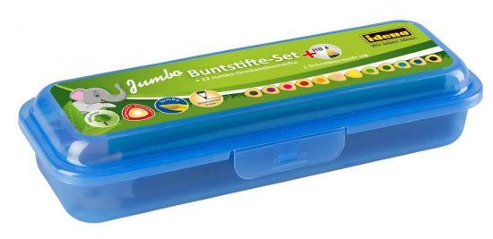 Buntstifte-Set, 12 Jumbo Dreikant-Buntstifte, 1 Schreiblernstift HB