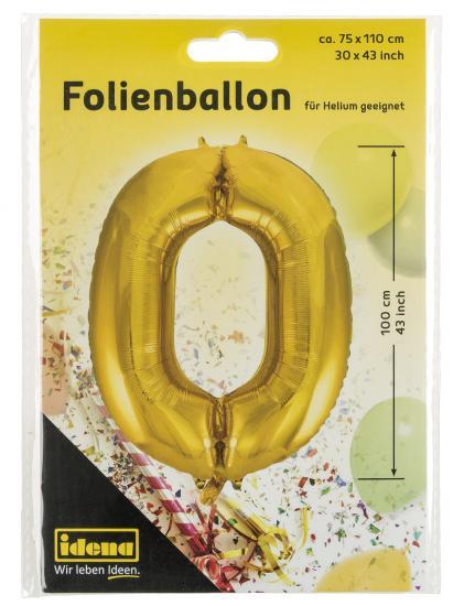 "Folienballon ""0"", 75 x 110 cm, für Helium geeignet"