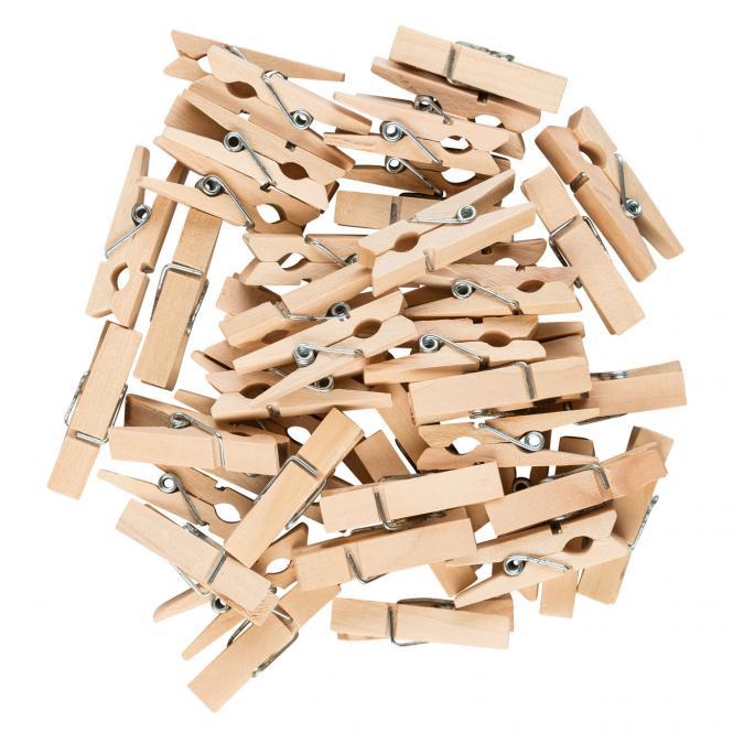 Idena Wäscheklammern aus Holz 48 Stück 3,5 cm   63134