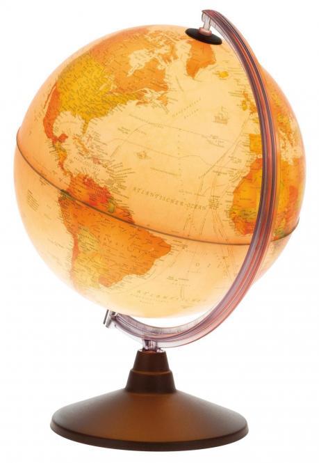 Idena Leuchtglobus mit Doppelbild-Kartographie 30cm