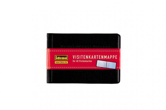 Visitenkartenmappe 10 X 7 Cm Für 40 Visitenkarten Kunstleder Schwarz Günstig Kaufen Idena