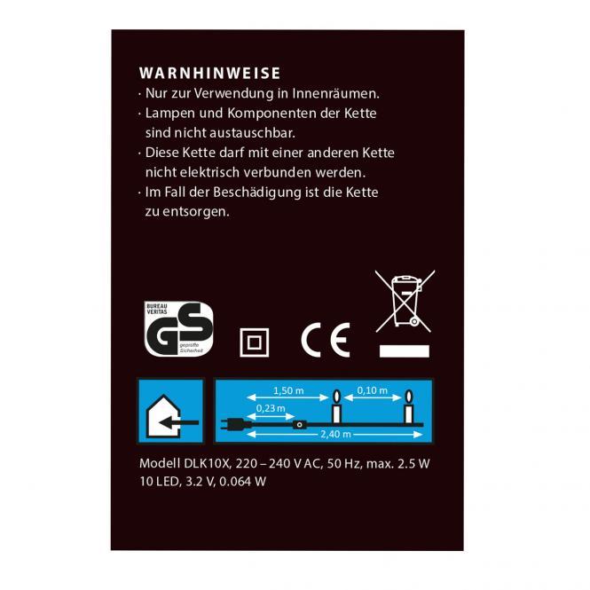 idena markenshop 10er led lichterkette warmwei f r. Black Bedroom Furniture Sets. Home Design Ideas