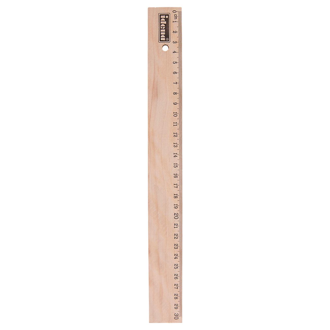 Idena Markenshop Holz Lineal 30 Cm Unlackiert Online Kaufen