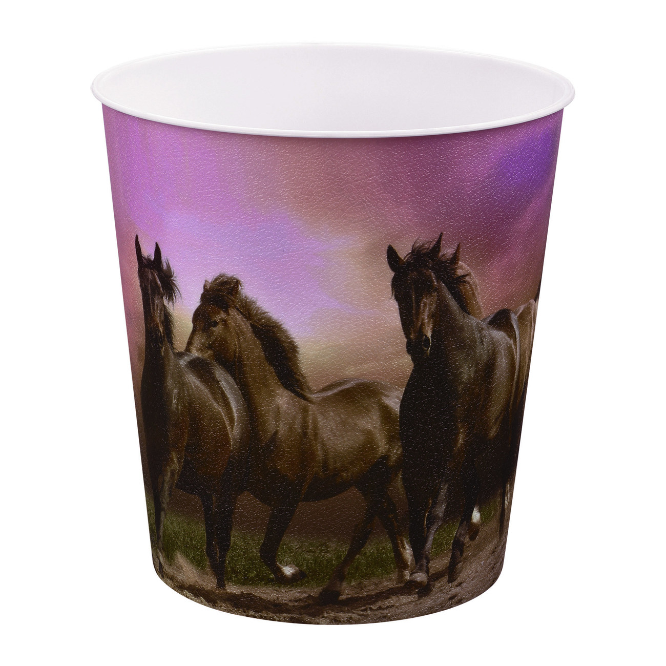 Idena Markenshop | Papierkorb, Pferde Motiv, 9 Liter, Kunststoff ...