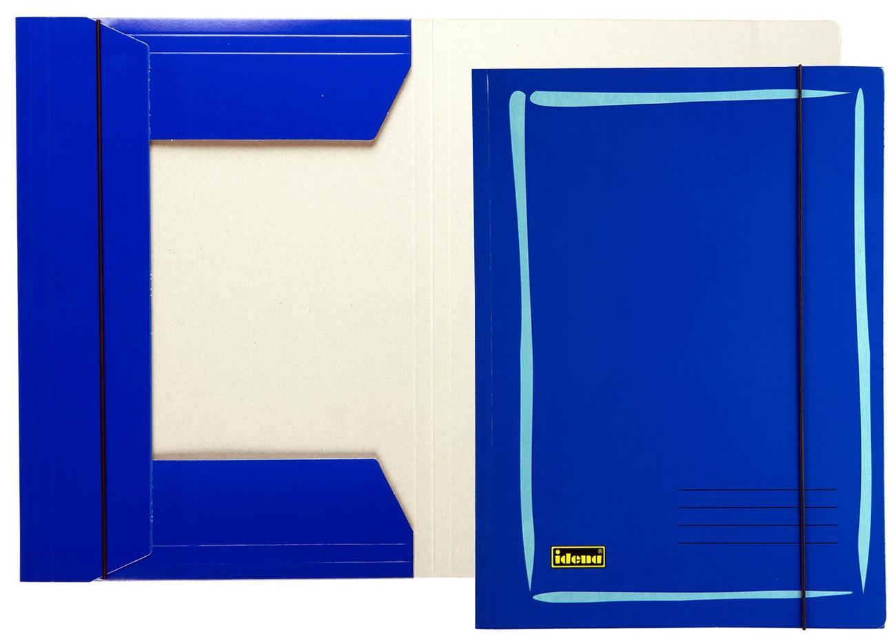 idena markenshop sammelmappe din a4 aus glanzkarton 300 g m blau online kaufen. Black Bedroom Furniture Sets. Home Design Ideas