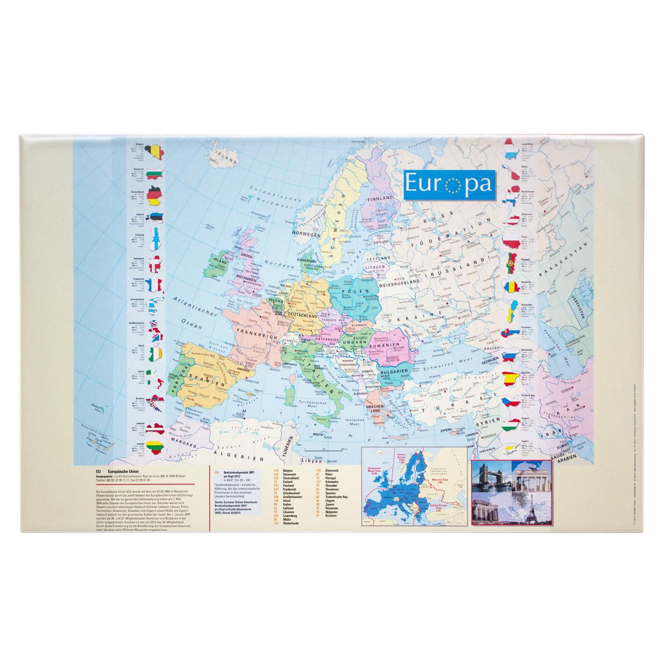 Schreibunterlage Europakarte Gunstig Kaufen Idena