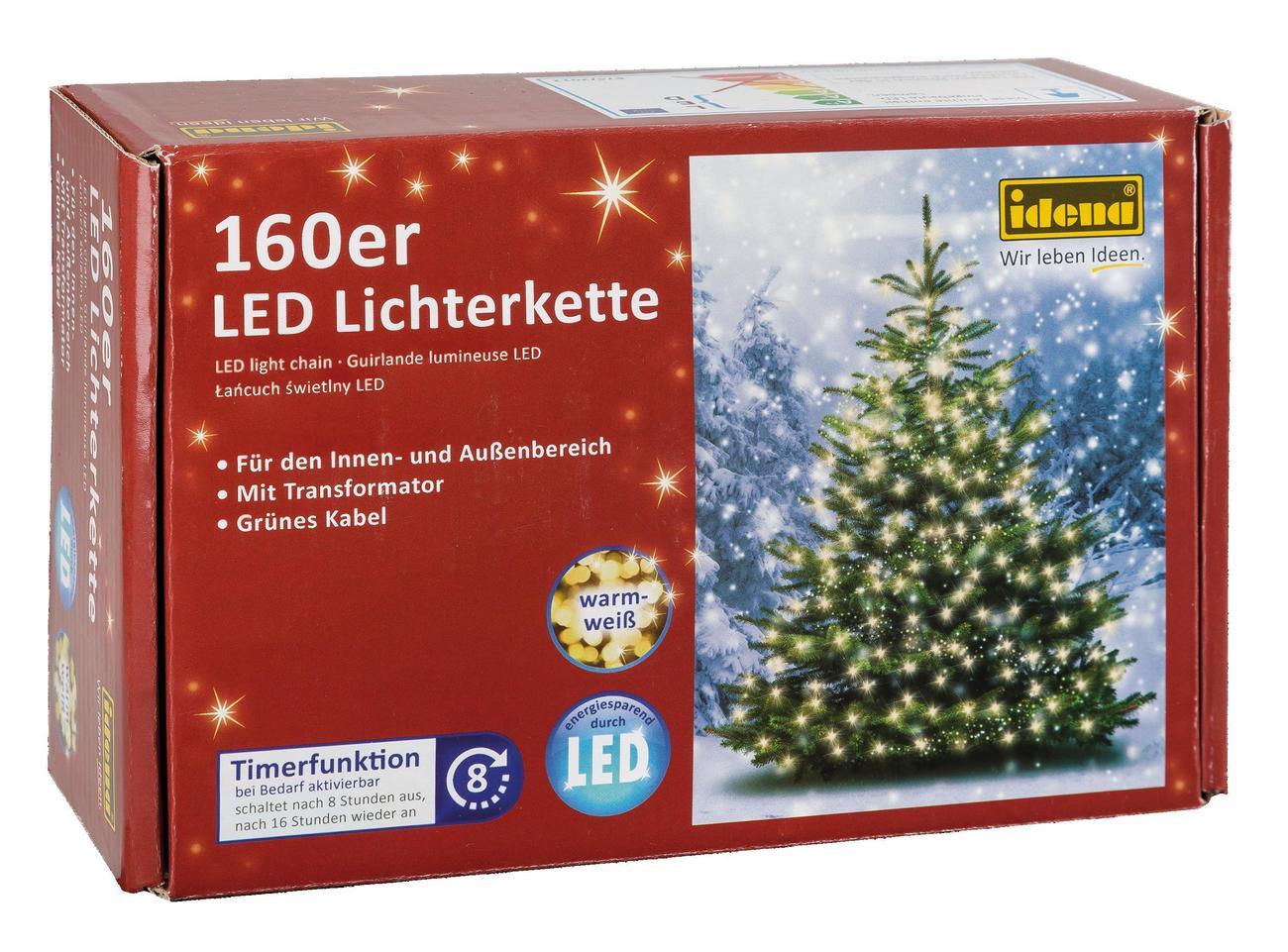 Idena markenshop 160er led lichterkette warmwei innen - Lichterkette ohne kabel ...