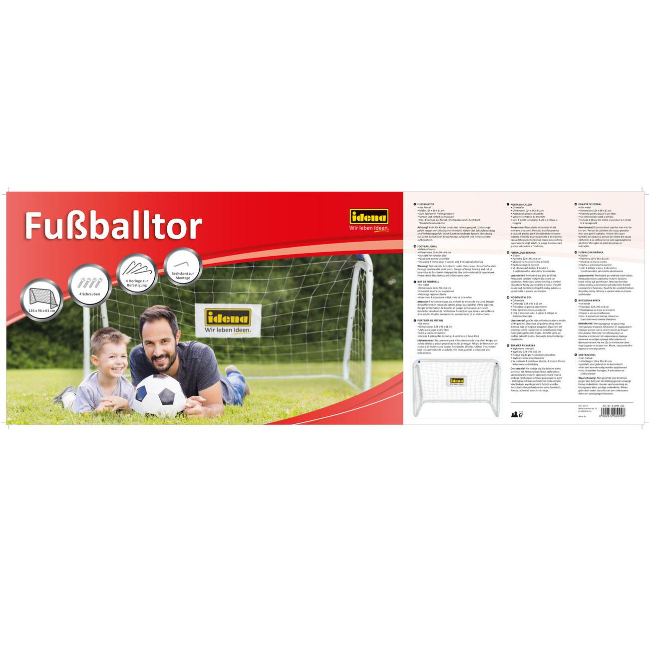 Fussballtor Aus Metall Mit Netz Gunstig Kaufen Idena