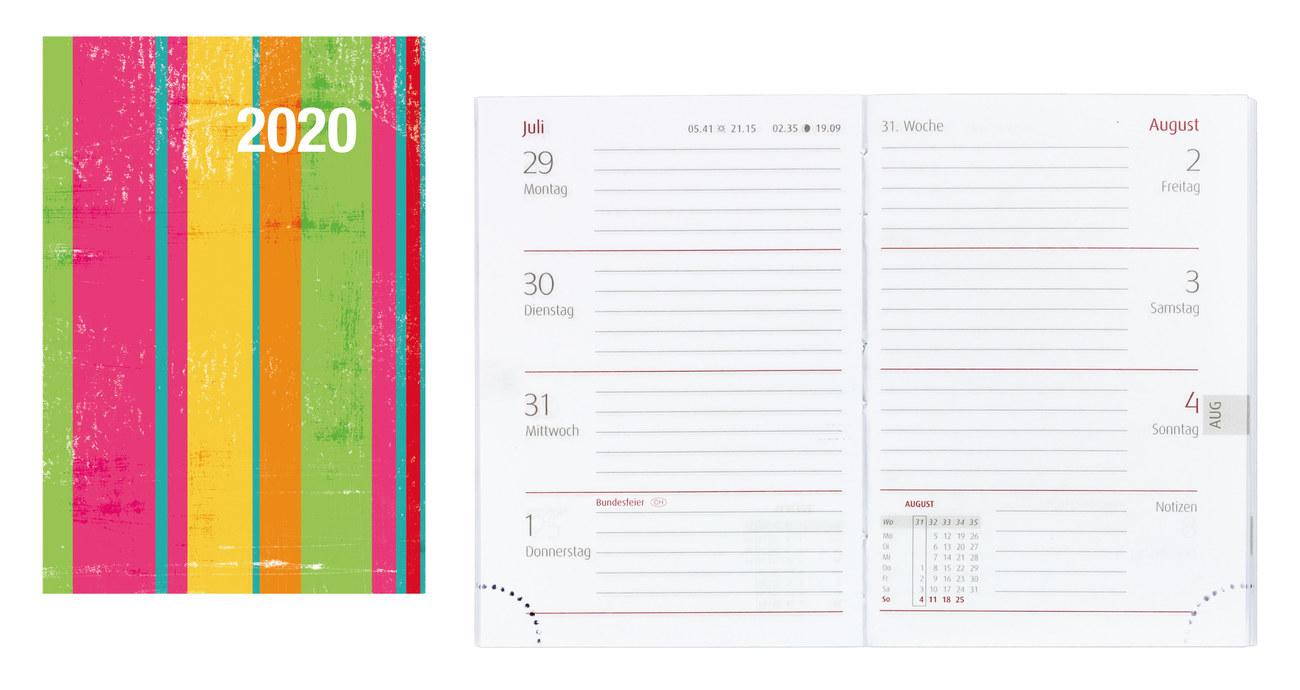 kleiner Taschenkalender 2020 Kalender 8,5 x 11cm 2 Seiten = 1 Woche mit Ferien