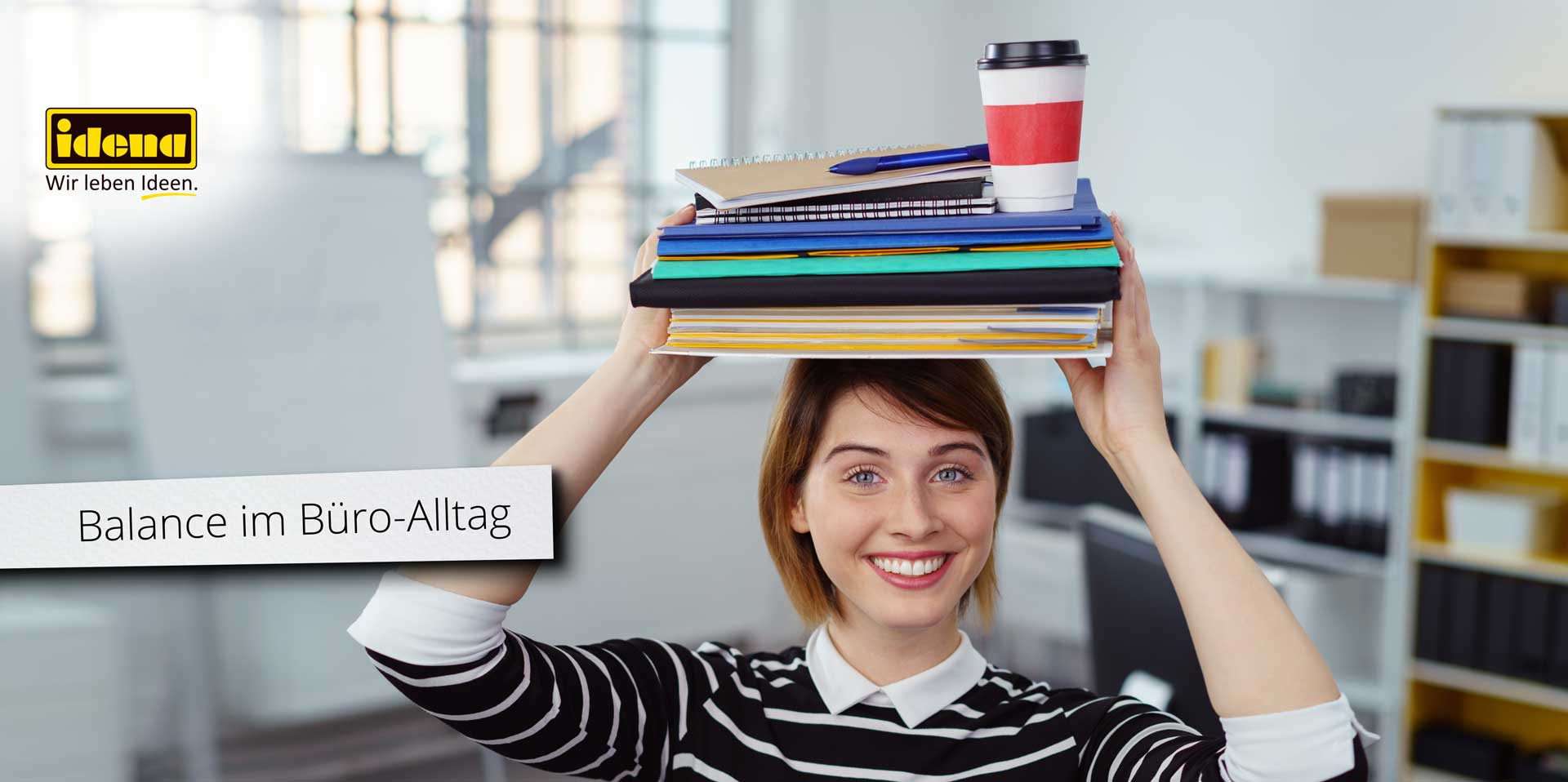 Banner Balance im Büro-Alltag