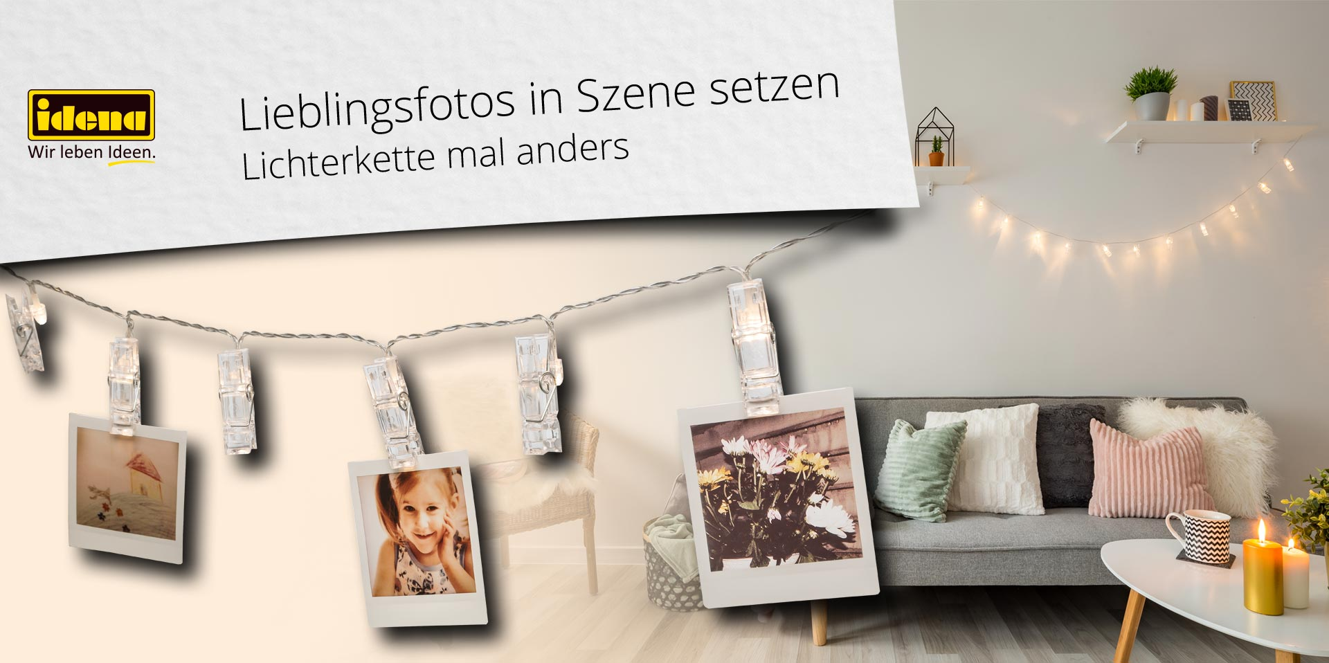 Banner Klammer-Lichterkette