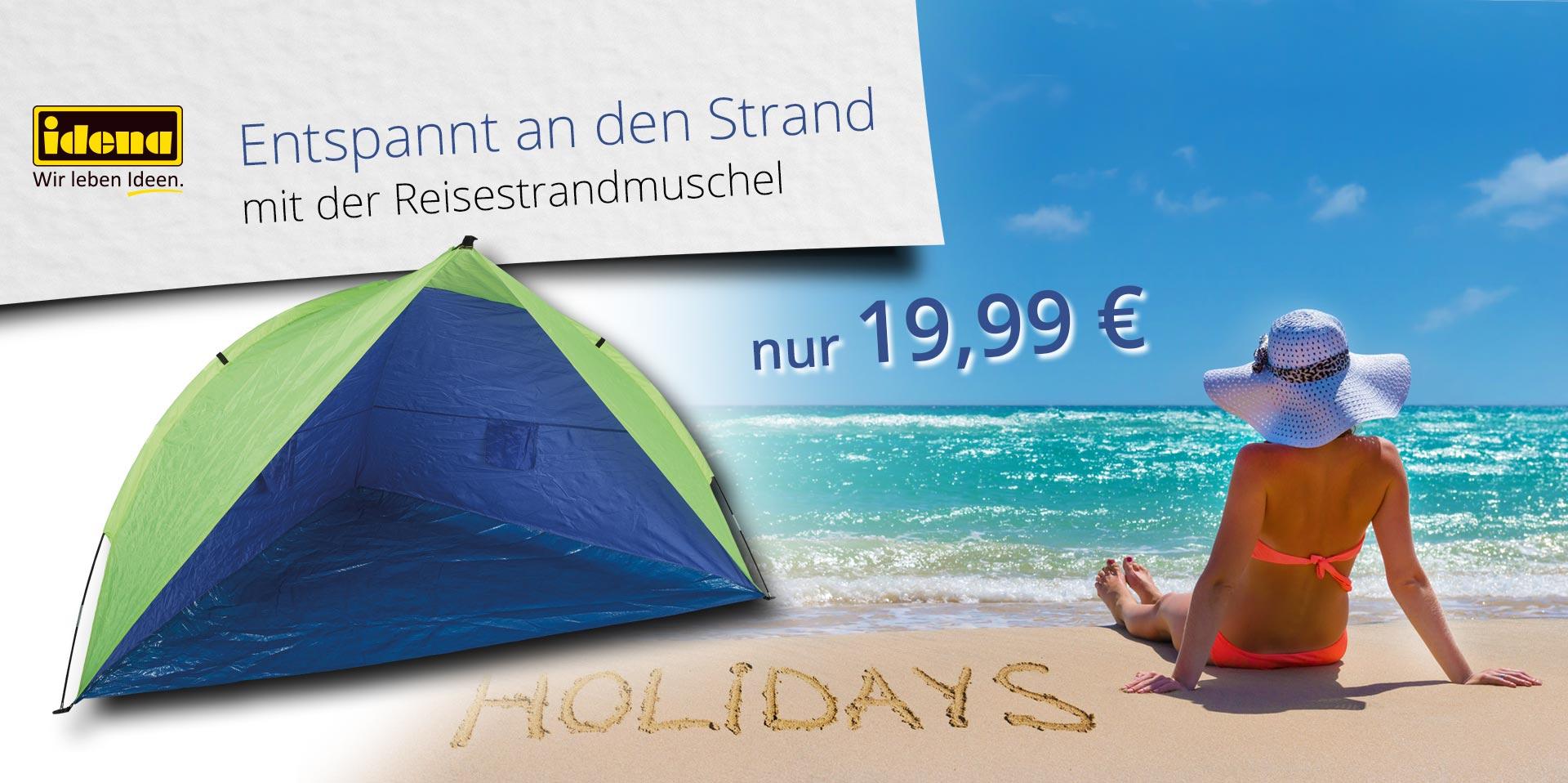 Banner Reisestrandmuschel