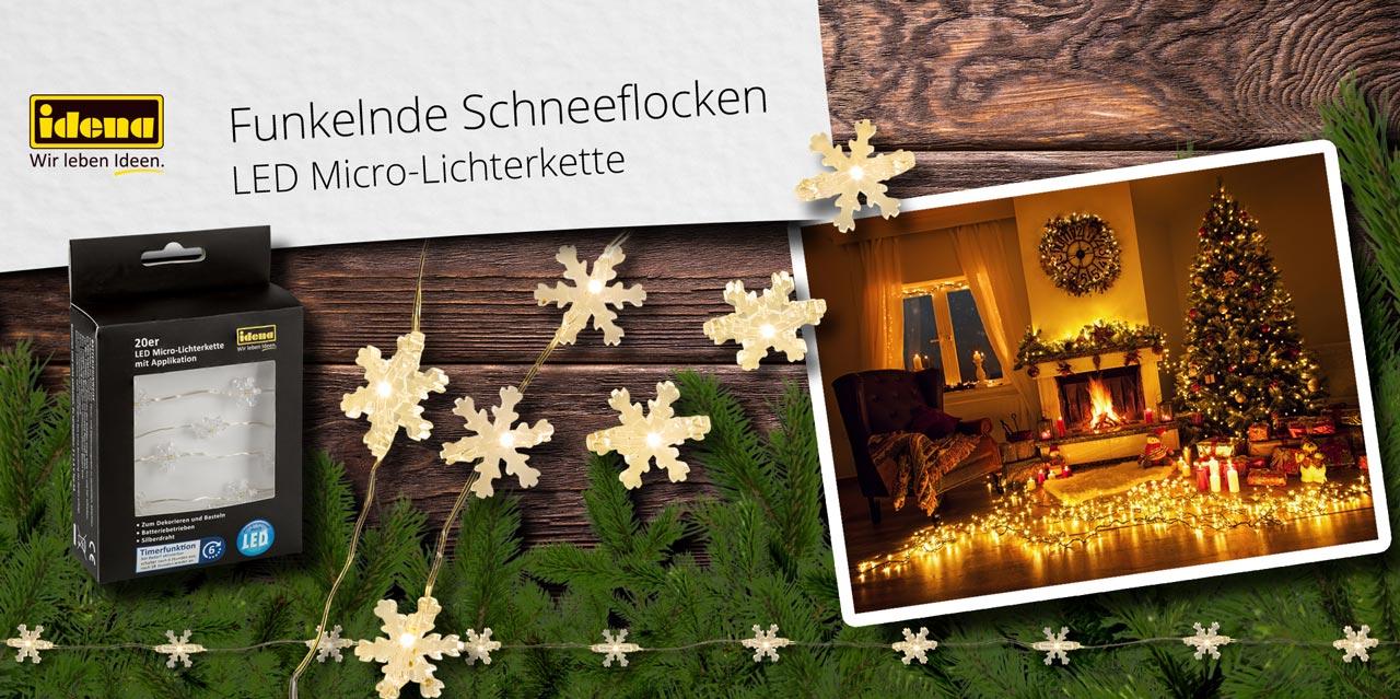 Banner Schneeflocken-Lichterkette