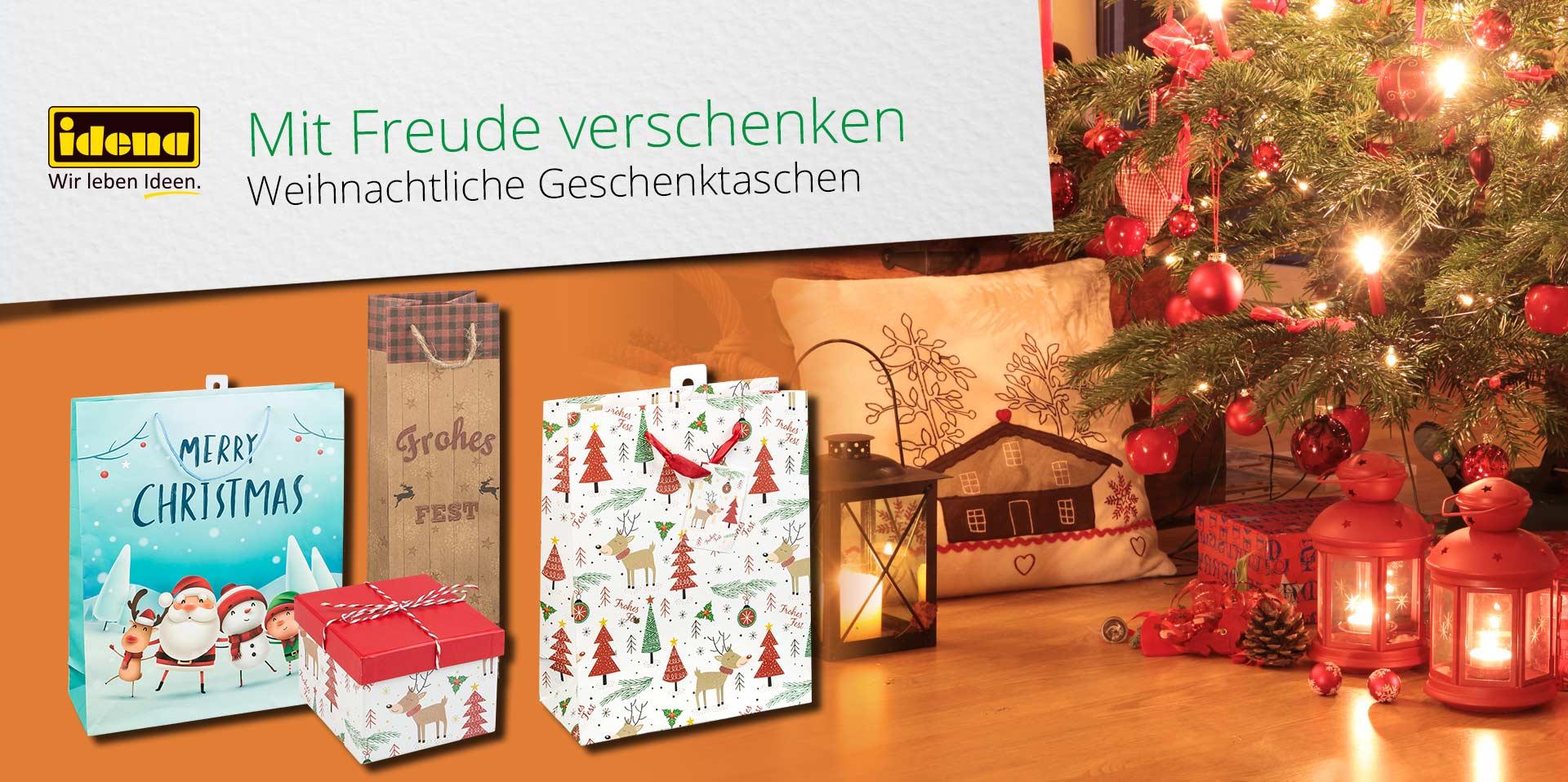 Banner Geschenkverpackungen Weihnachten